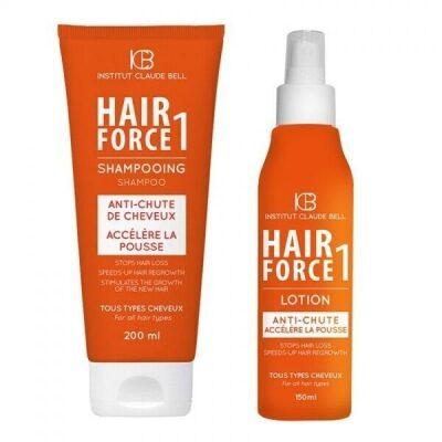 HAIR FORCE ONE Hajhullás elleni kezelés – Sampon és Hajszesz